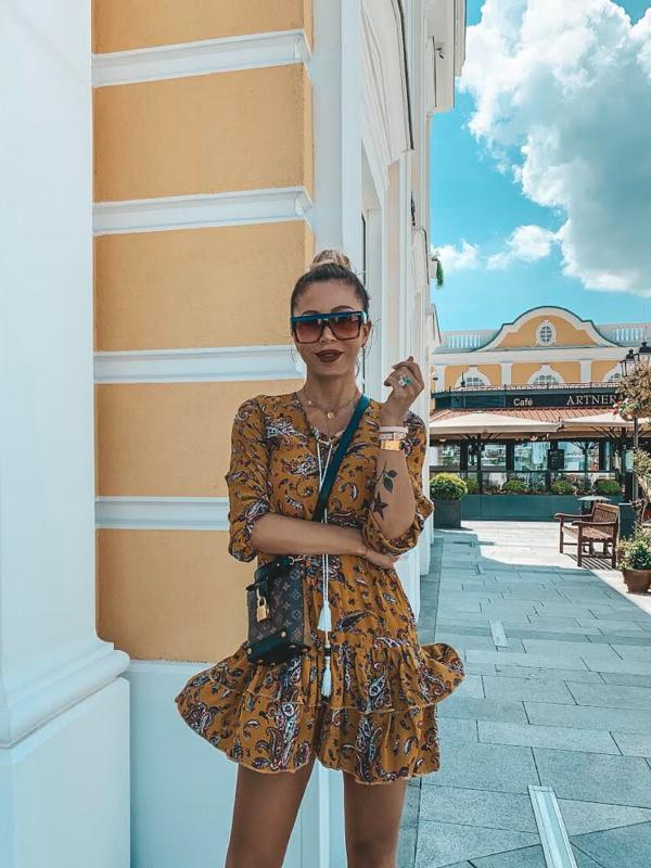 Sukienka Torina Musztardowa