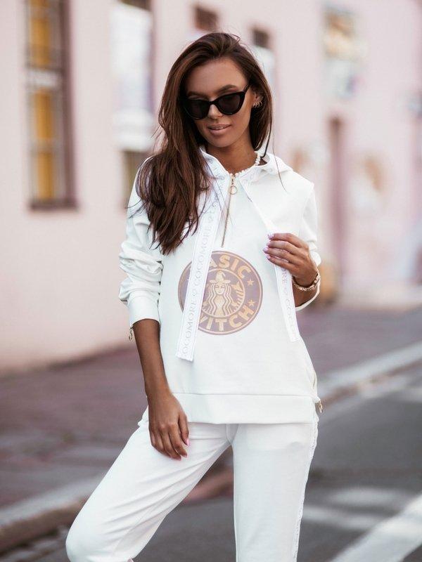 Bluza Zip Witch Kremowa