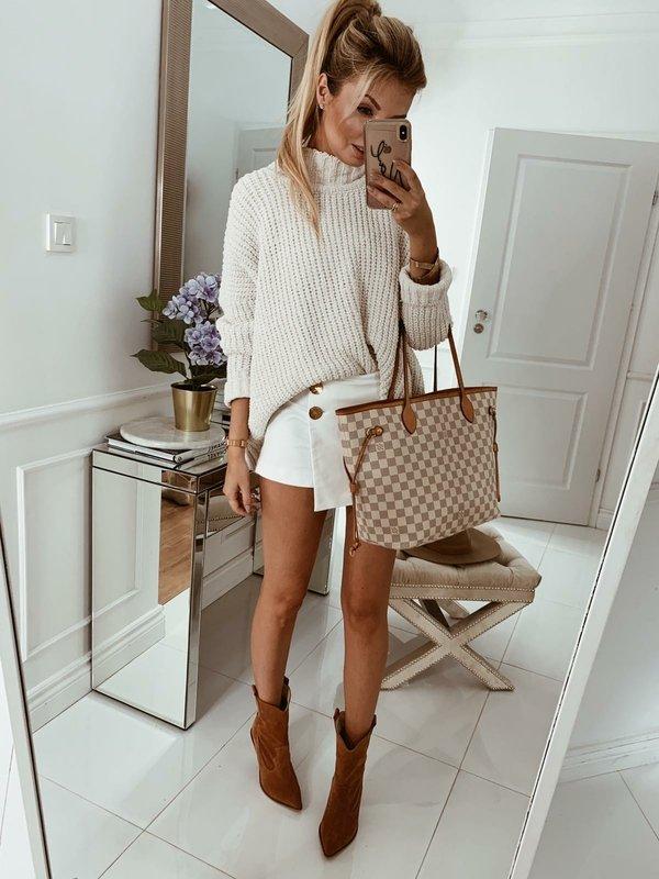 Sweter Woolen Ecru