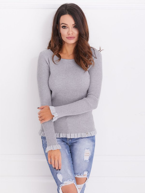 Sweter Evelyn Szary