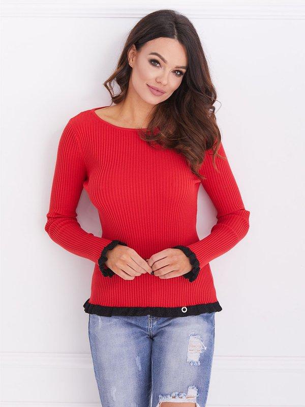 Sweter Evelyn Czerwony