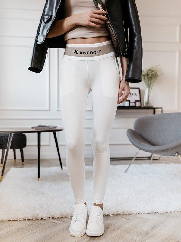Spodnie Just Do It Kremowe