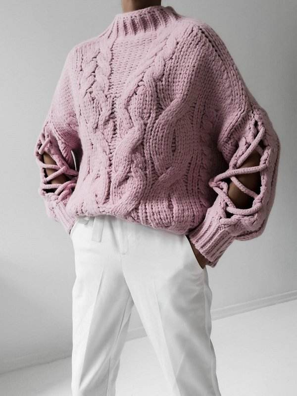 Sweter Sheridan Pudrowy