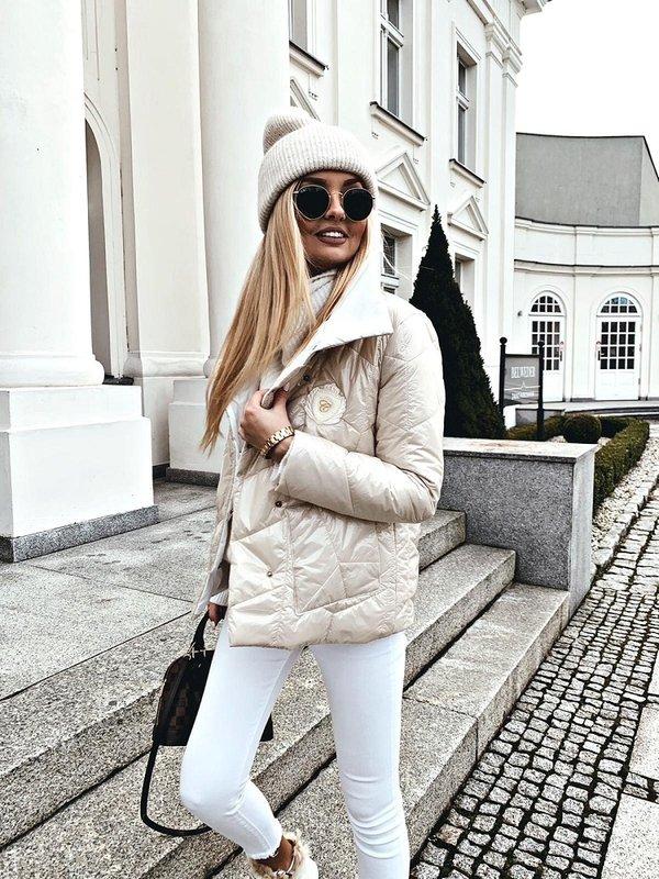 Kurtka Frozen Kremowa
