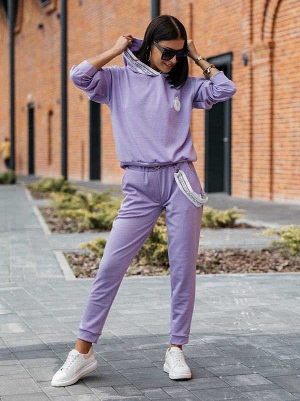 Spodnie Therese Fioletowe