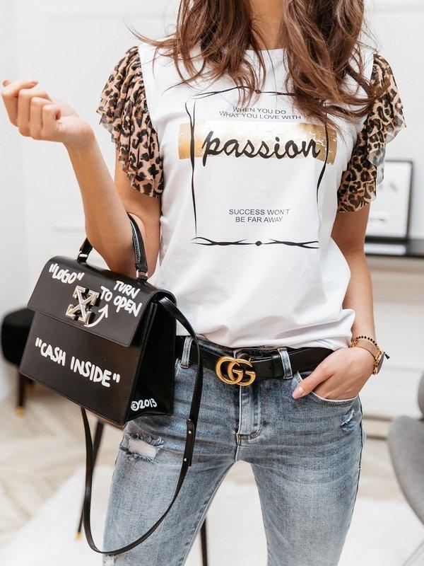 Bluzka Passion Panther Biała