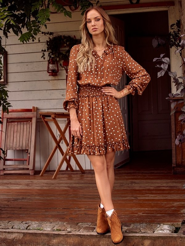 Sukienka Aria Brązowa