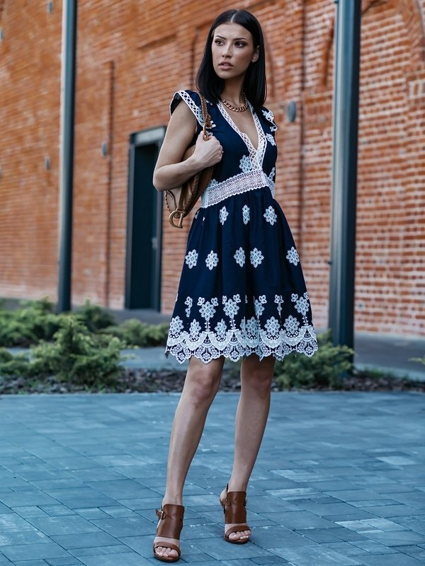 Sukienka Lamour Granatowa