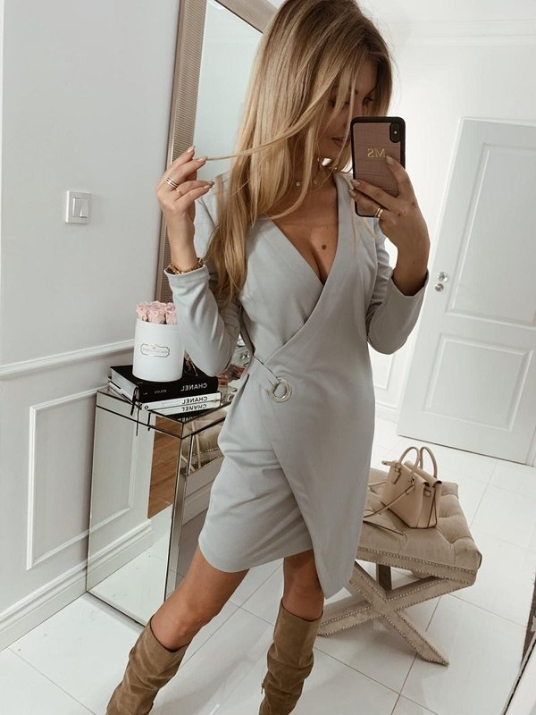 Sukienka Dallas Szara
