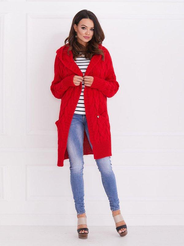 Sweter Mona Czerwony