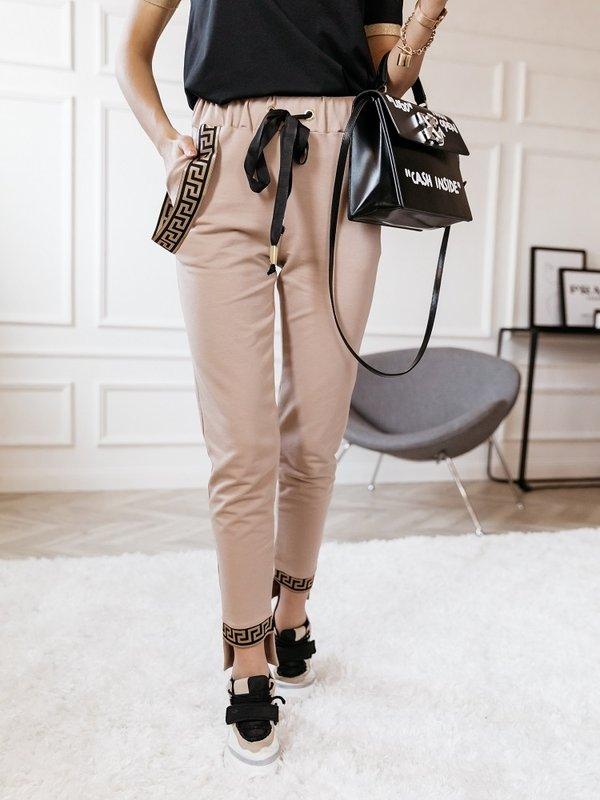 Spodnie Tamie Karmelowe
