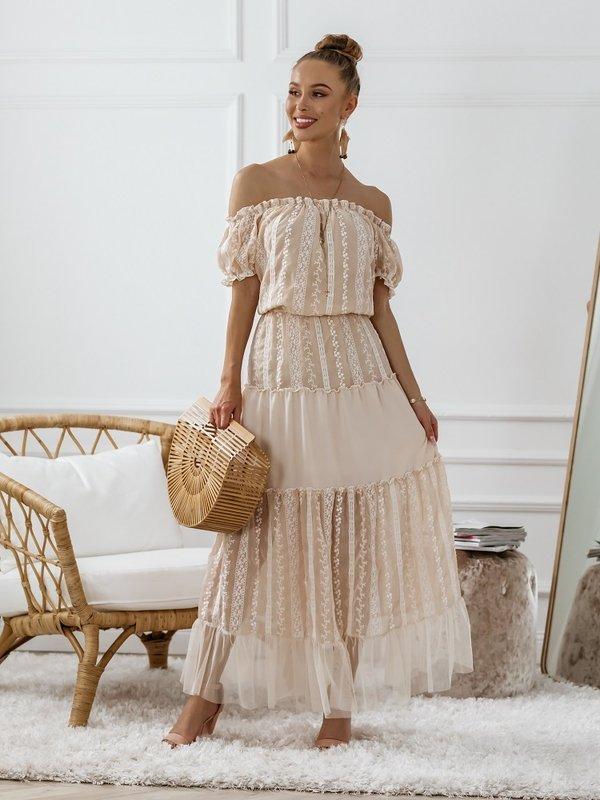 Sukienka Beliss Beżowa