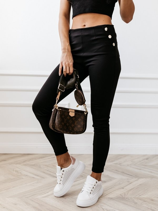 Spodnie Buttons Czarne