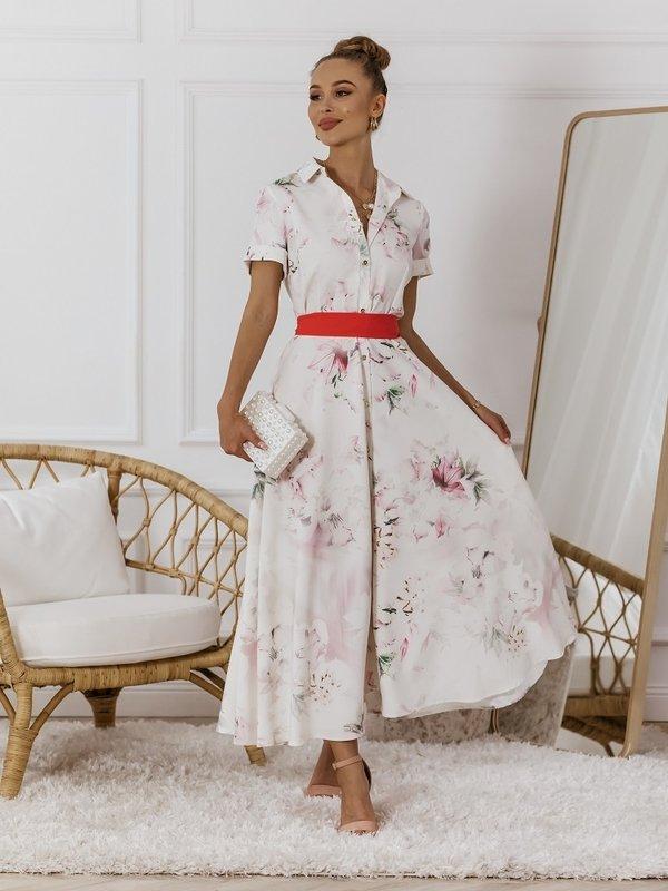 Sukienka Sorella Pudrowa