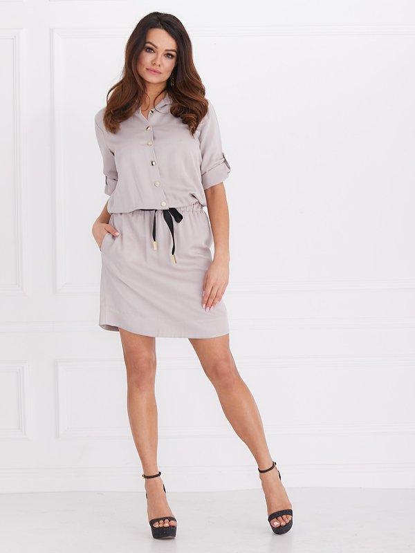 65104d824e Sukienka Hannah Latte
