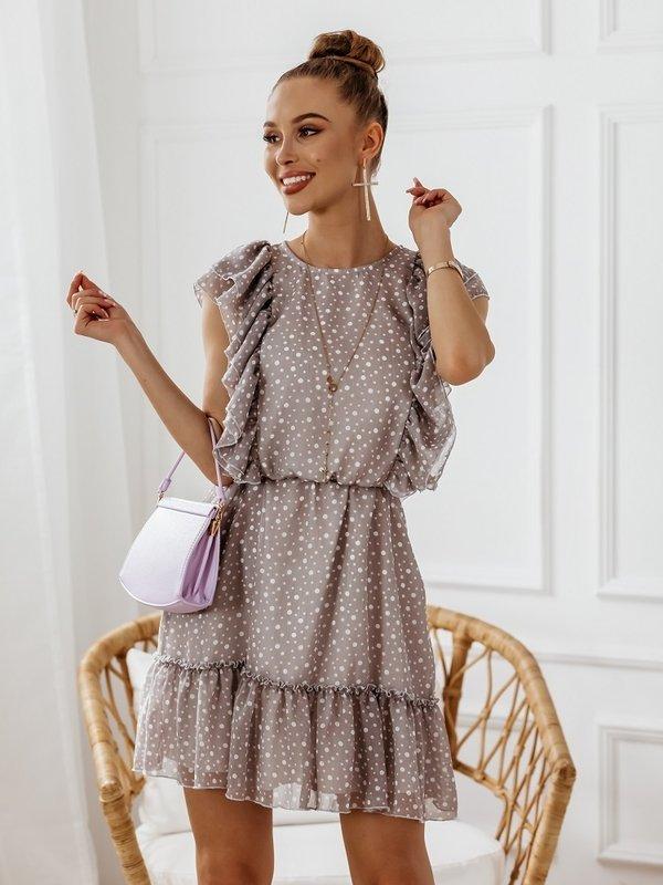 Sukienka Twinkle Dots Szara