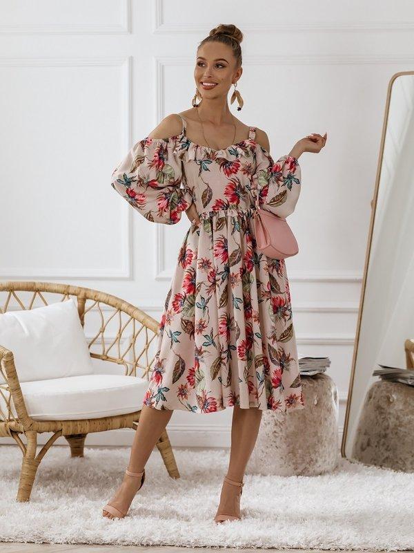 Sukienka Lessa Pudrowa