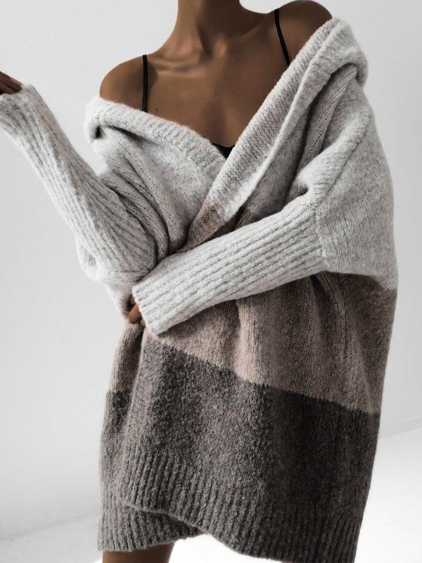 Sweter Nayla Szary