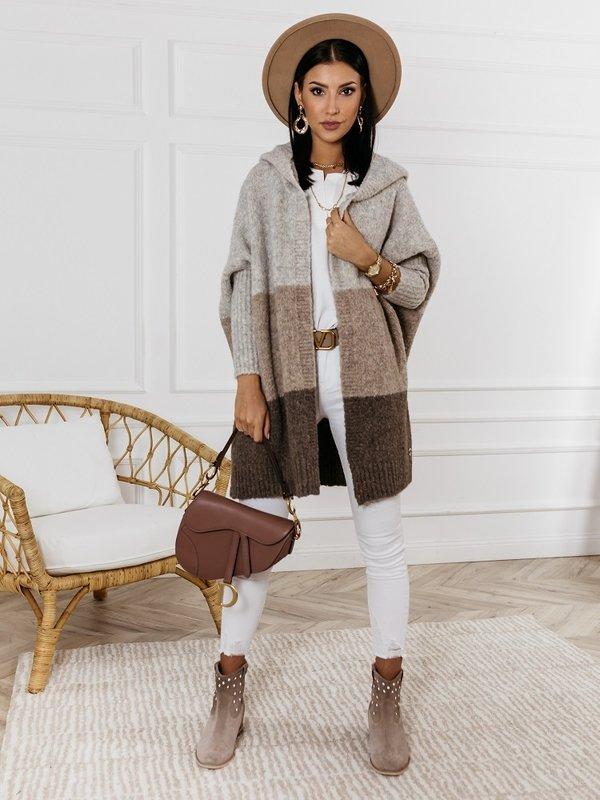 Sweter Rodie Grey Brązowy