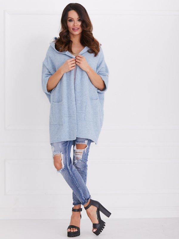 Sweter Fortune Błękitny