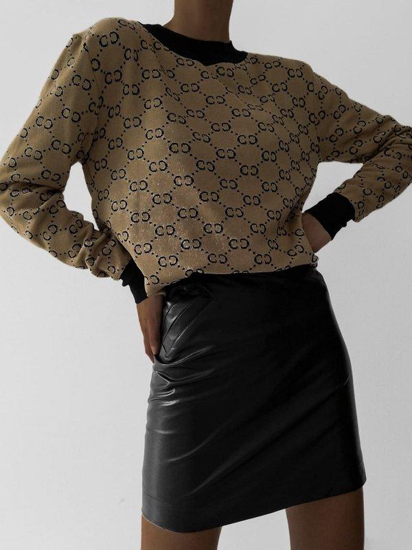 Sweter Glamie Złoty