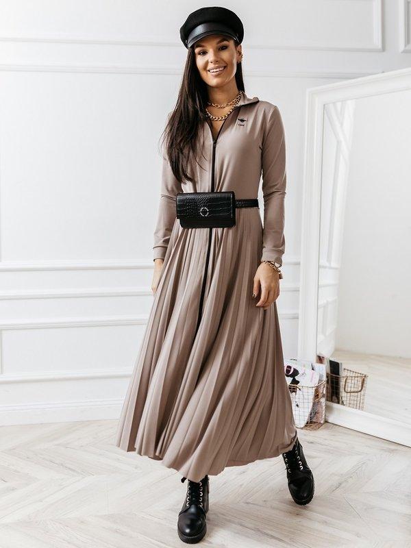 Sukienka CMR Maxi Beżowa