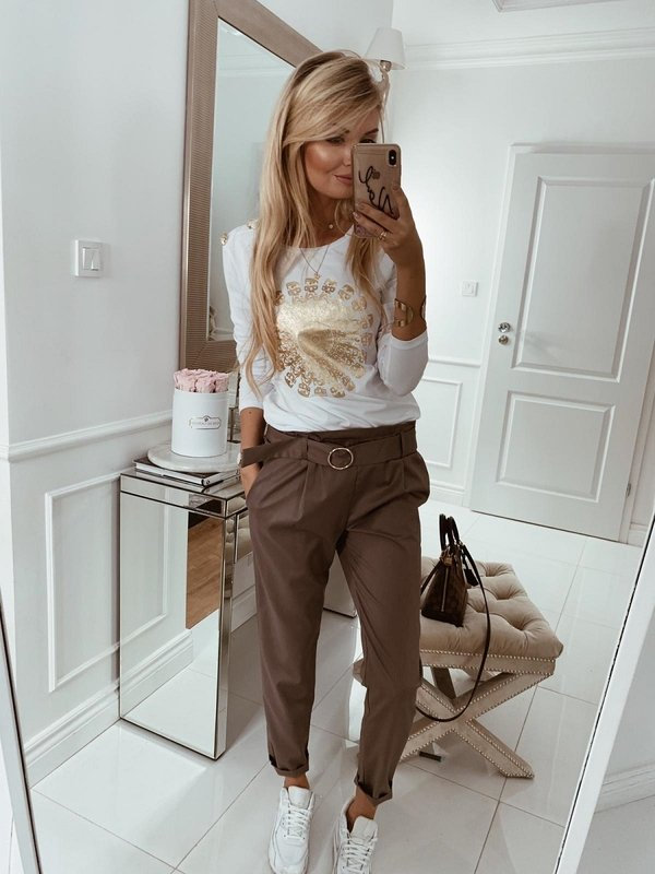 Spodnie Bresla Brązowe