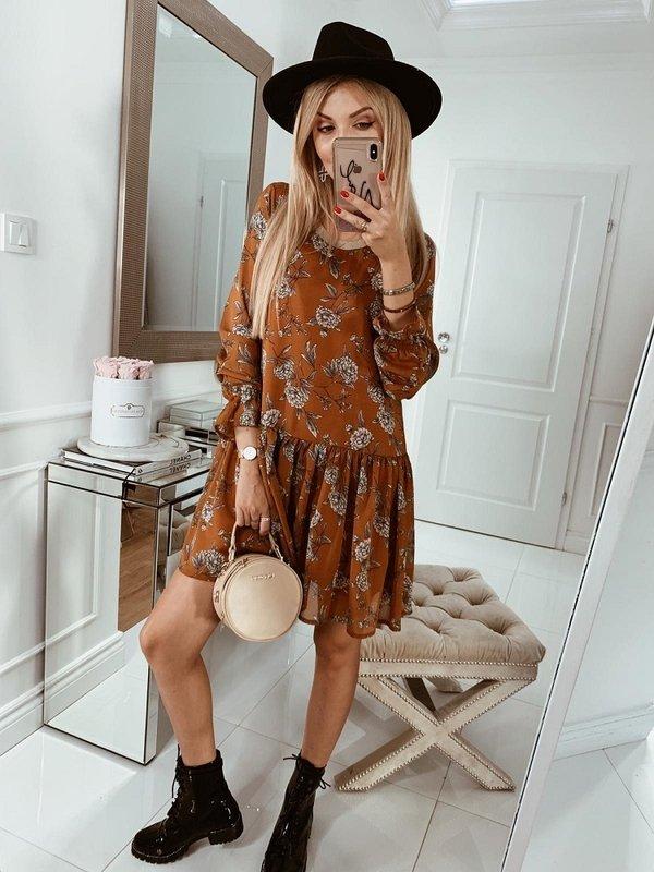 Sukienka Malen Pomarańczowa