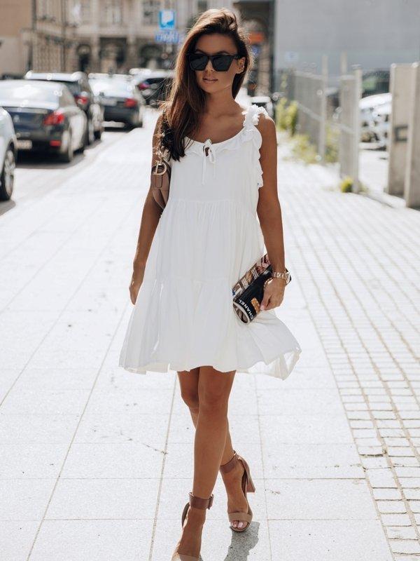 Sukienka Manuel Kremowa