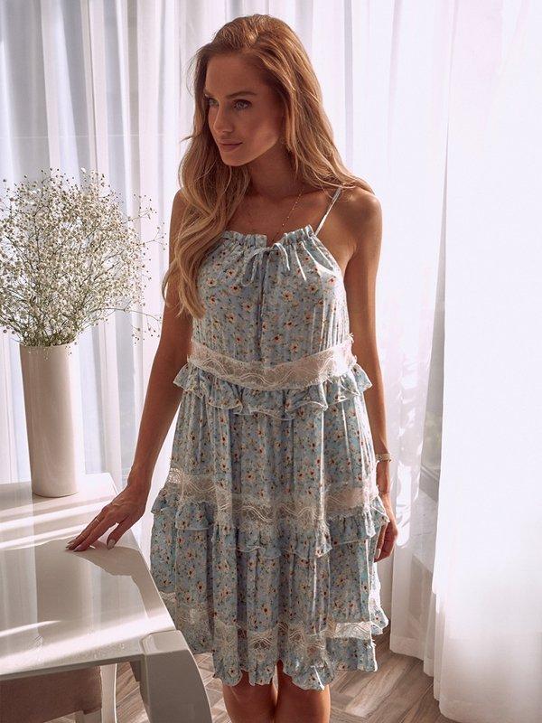 Sukienka Geneva Błękitna