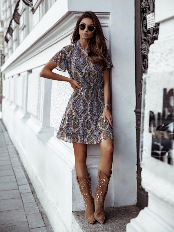 Sukienka Tiana Fioletowa