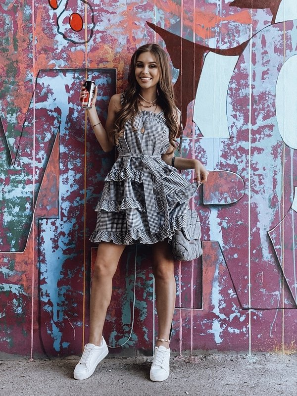 Sukienka Sydney Check Czarna
