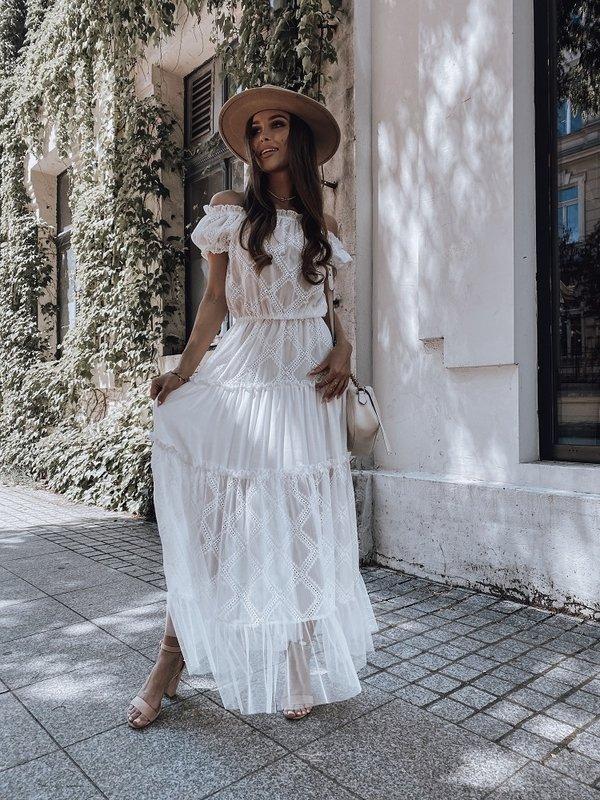 Sukienka Renette Maxi Biała