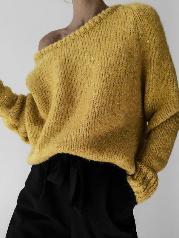 Sweter Ruline Musztardowy