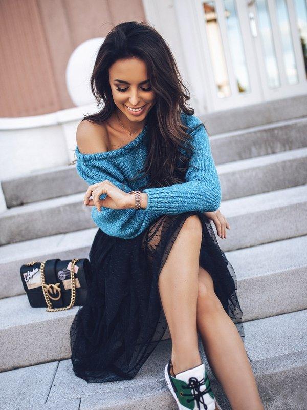 Sweter Ruline Niebieski