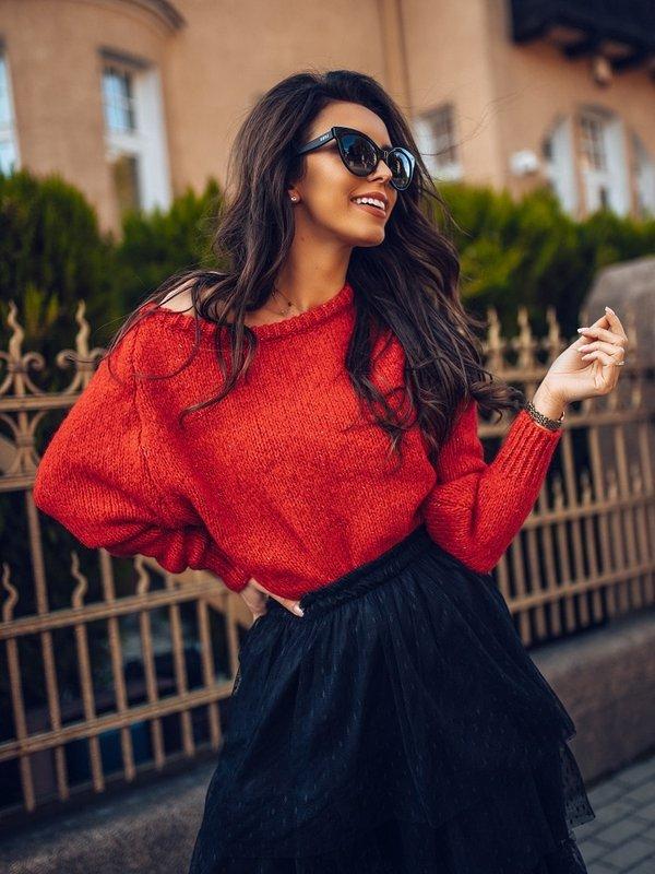 Sweter Ruline Czerwony