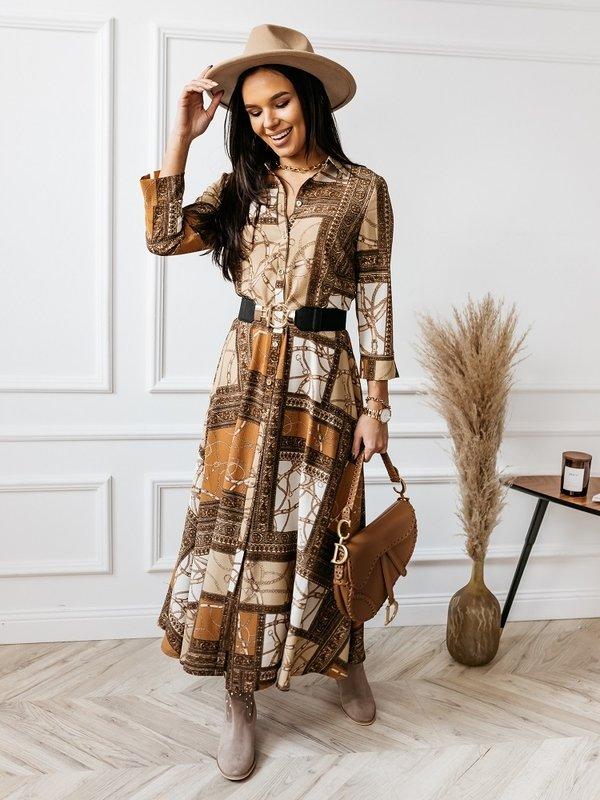 Sukienka Field Brązowa