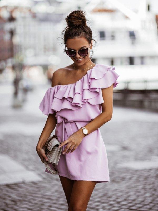 Sukienka Syntio Fioletowa