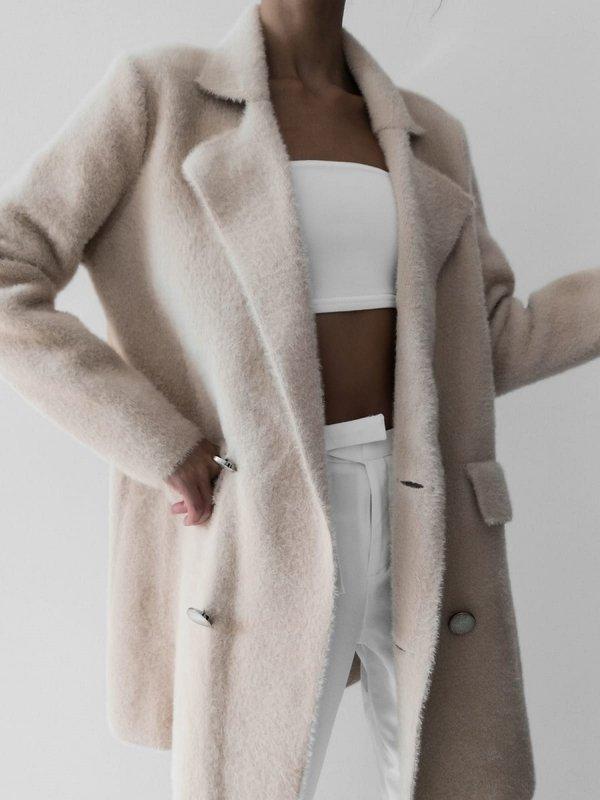 Płaszcz Whisper Premium Pudrowy