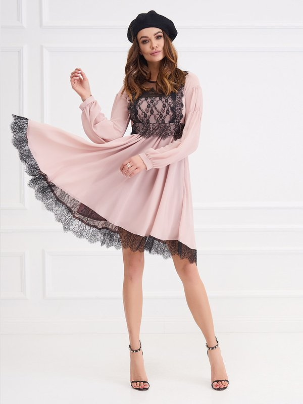 Sukienka Punto Pudrowa