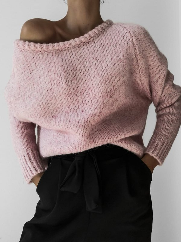 Sweter Ruline Pudrowy