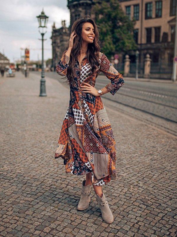 Sukienka Nina Pomarańczowa