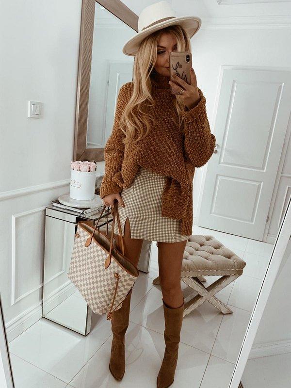 Sweter Woolen Brązowy
