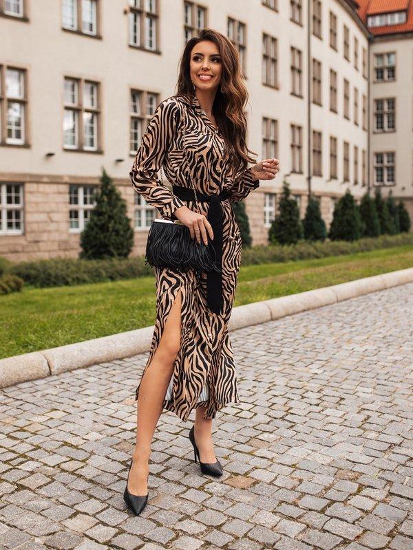 Sukienka Epoque Brązowa