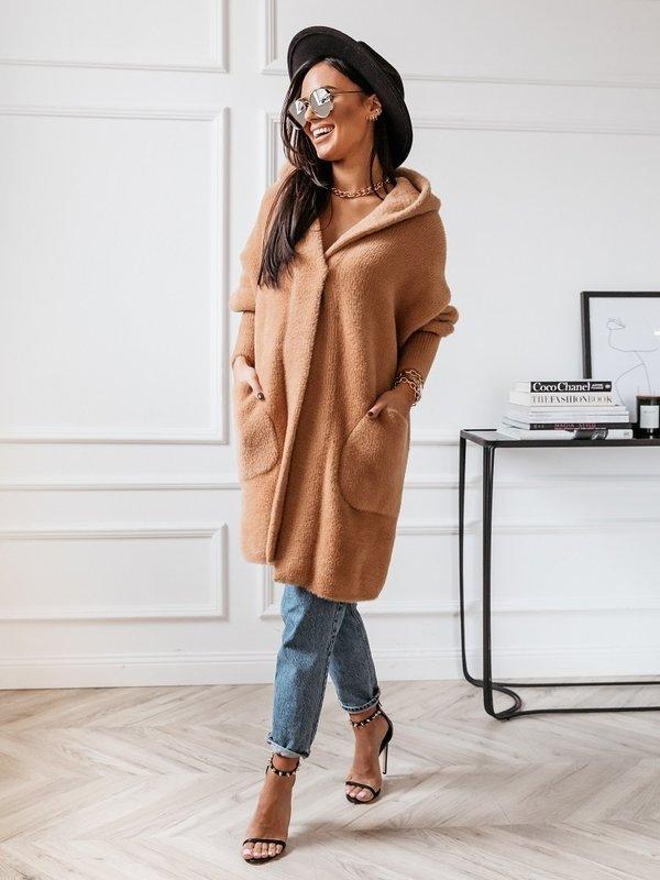Płaszcz Lolie Premium Karmelowy