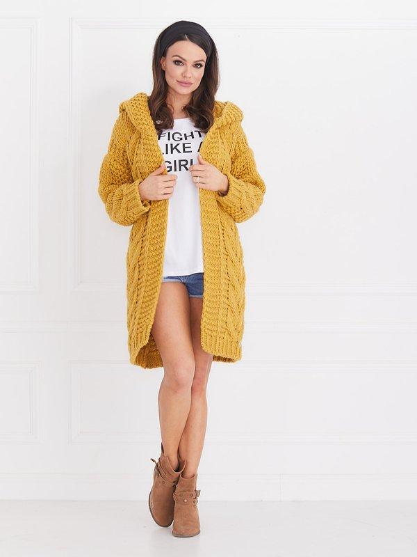 Sweter Daisy Musztardowy