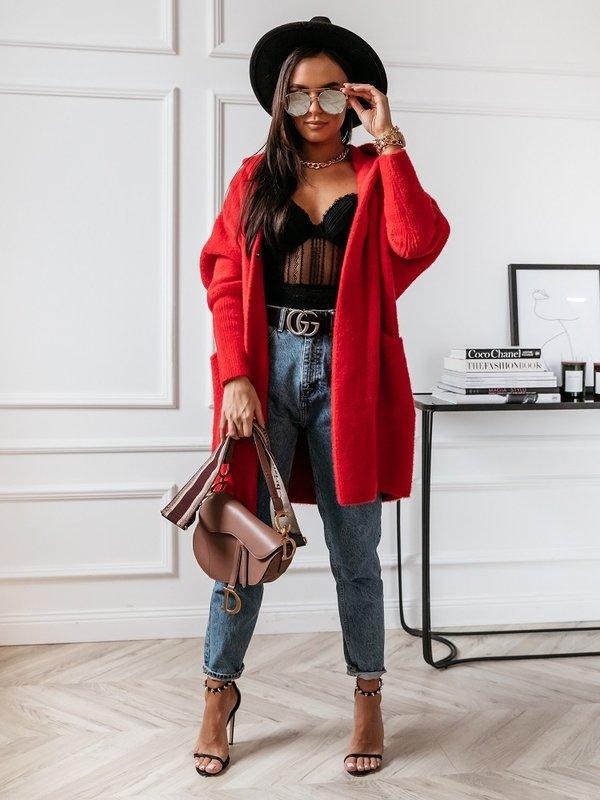 Płaszcz Lolie Premium Czerwony