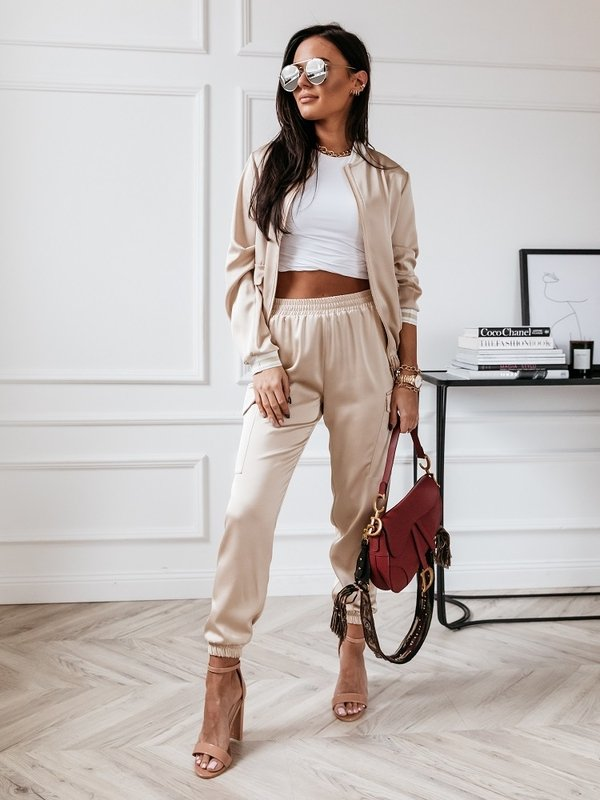 Spodnie Satino Beżowe