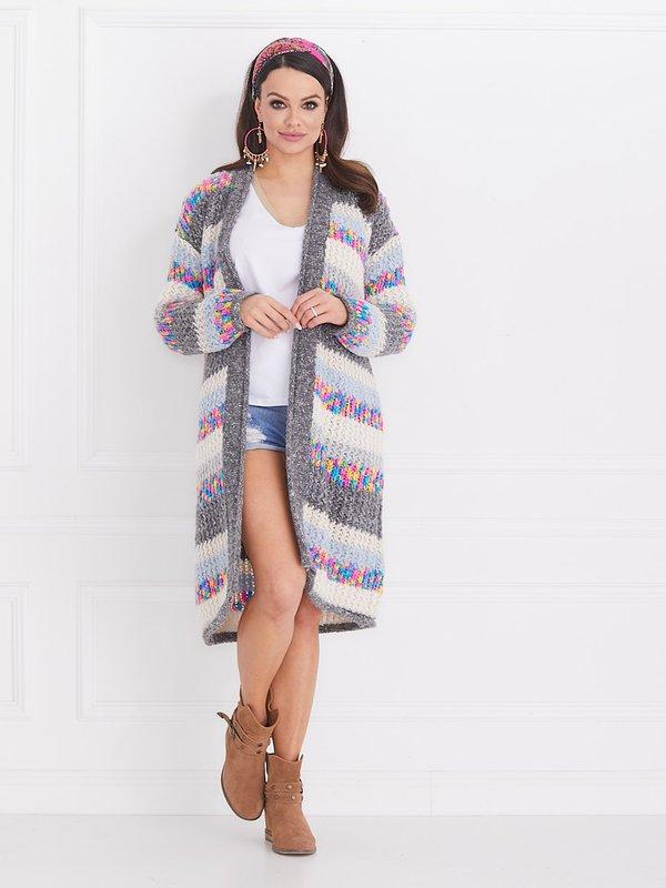 Sweter Rainbow Szary