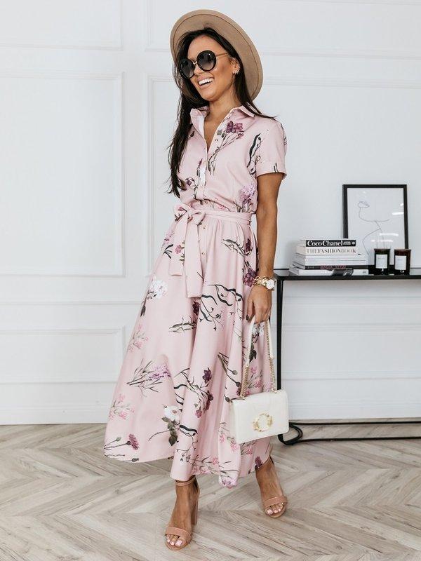 Sukienka Dorello Pudrowa